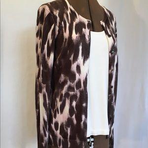 Ann Taylor Cardigan Silk Cotton Cashmere Med